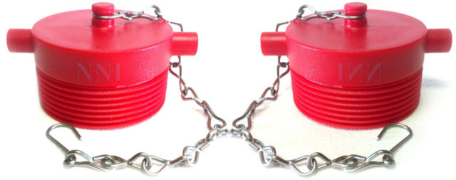 2 Pack Fire Hydrant Adapter Plug with Chain 2-1/2