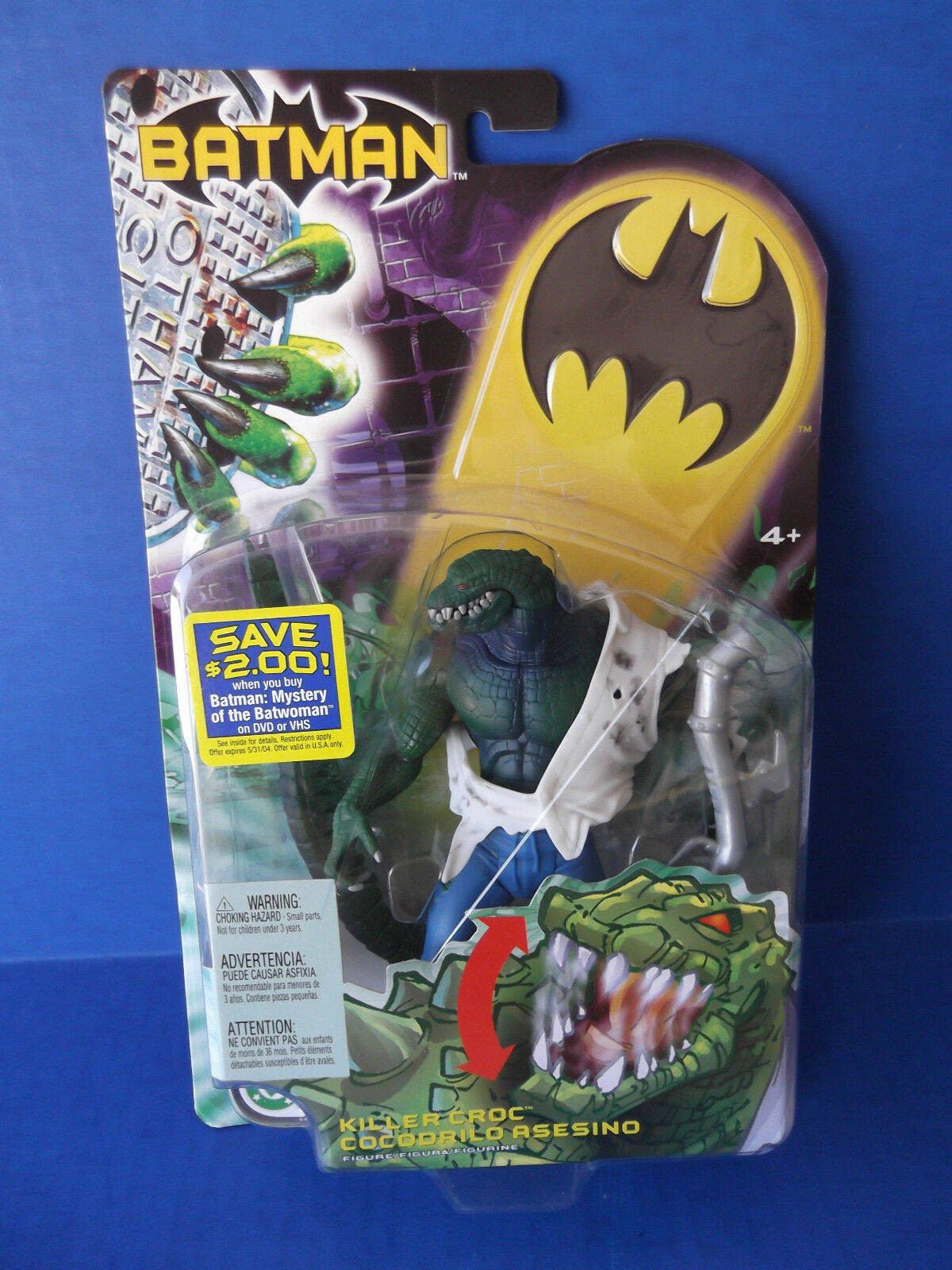 DC Batman KILLER CROC Figure 2003 MATTEL