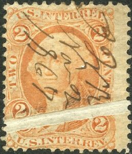 """""""2¢ Revenue Stamp"""" W/ Wide Pre Print Ppr Fold Error Bp0037 Smoothing Circulation And Stopping Pains Amiable #r15 Var Stamps"""