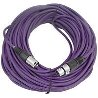 Seismic Audio Purple 100' Xlr Microphone Cable Mic Cord on Sale