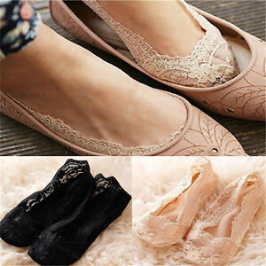Fashion-Women-Invisible-Liner-Cotton-Lace-Flower-Low-Cut-Antiskid-Ankle-Socks-HS