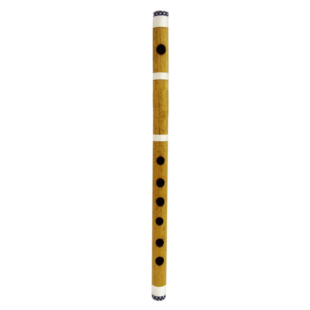 Golden Brass Metal Bansuri Traditional Indian Musical Instrument Flute