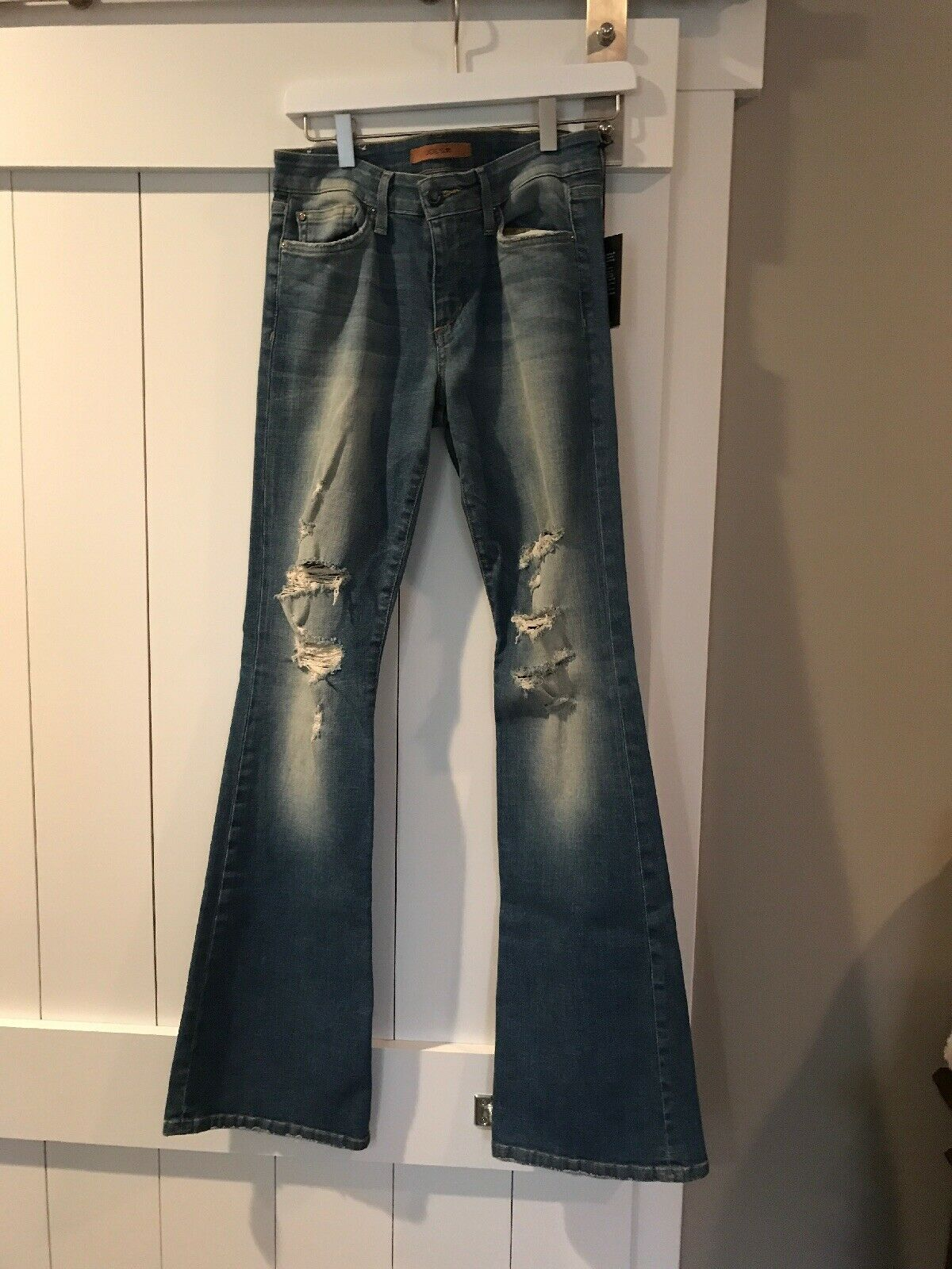 NWT JOE'S Sz29 COLLECTOR'S EDITION HIGH RISE FLARE DISTRESSED JEANS GRETCHEN