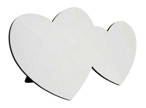LP-MD-PPH Sublimation MDF Heart By Heart Photo Panel 21cm x 13cm Heat Press