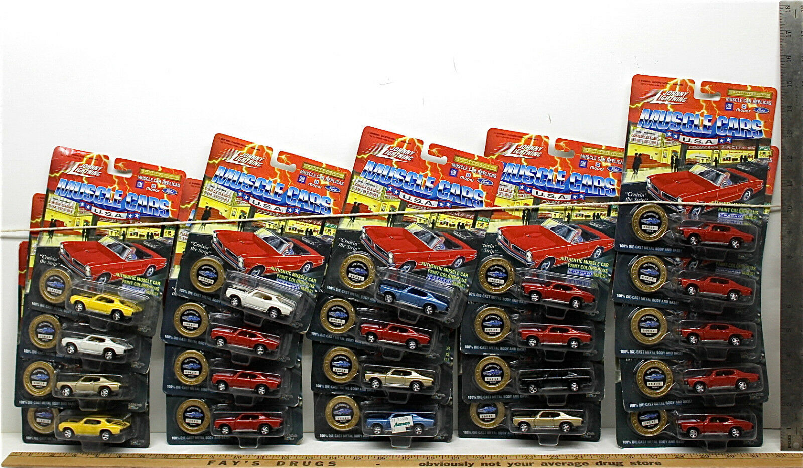 21 Vintage Johnny Lightning Muscle Cars USA 1970 Chevy Chevelle SS Die Cast Lot