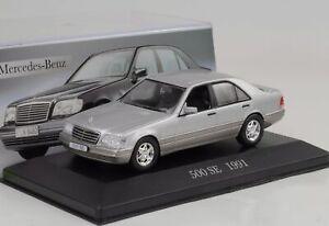 1991-Mercedes-Benz-500-Se-W140-Silver-1-43-ixo-altaya-Collection