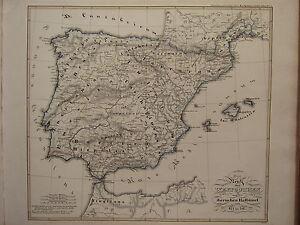 Map Of Spain 711.Details About 1846 Spruner Antique Historical Map Kingdom Of Visigoths Iberia Spain 477 711