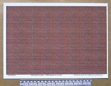 """OO/HO gauge (1:76 scale) """"Dark brown roof shingles"""" self adhesive vinyl - A4"""