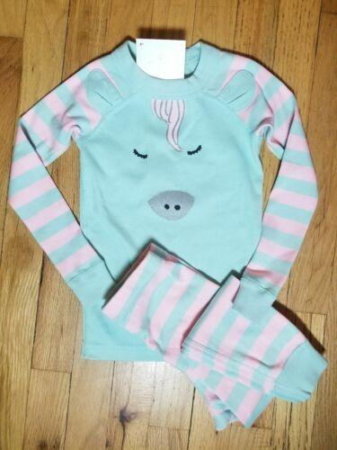 NWT Hanna Andersson 3-D UNICORN STRIPE ORGANIC Pajamas 100 110 120 130 140 NEW!