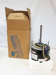 New in box a o smith f1058 condenser fan electric motor for Ao smith ac motor 1 2 hp