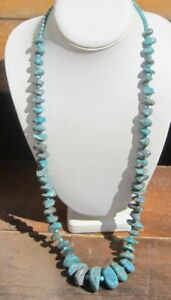 Man-039-s-Huge-and-Graduated-Handcrafted-Turquoise-Nugget-Necklace