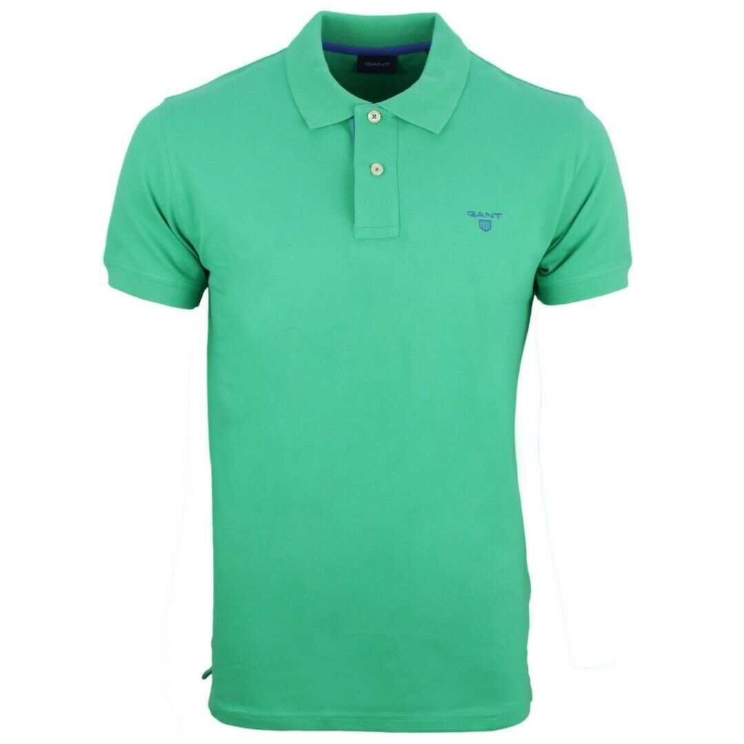 Gant Polo Maglietta Uomo Piquè Tinta Unita verde 252105 356