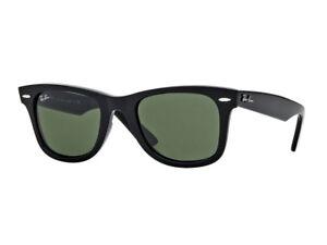 Occhiali-da-sole-Ray-Ban-Wayfarer-sunglasses-sonnenbrille-nero-verde-RB2140-901