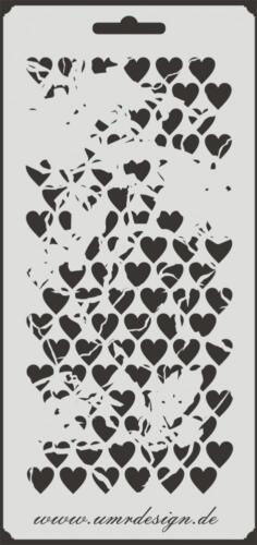 Scrapbooking Schablone S-143  Herzen Vintage ~ Stencil ~ UMR-Design