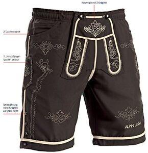 Badehose-Trachten-Shorts-Badeshorts-Lederhosen-Optik-Badeshort-Trachtenbadehose