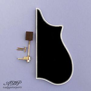 Mandolin-Pickguard-replacement-F-Style-Gibson-Black-3-ply-Binding-Bracket-PG-2F