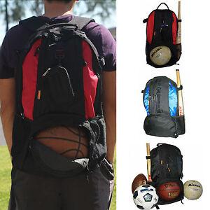 Sport Backpack Red Blue Black Fit Basketball Football