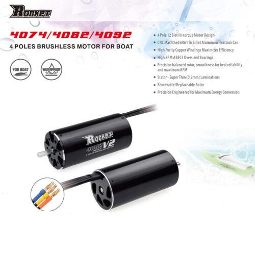 Rocket 4074 1700KV Brushless Motor for Traxxas Blast Feilun 1000mm RC Boat Car