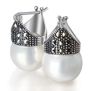 Beautiful Mother Pearl Big Earring Gift for Her MOP Earrings Womens Earrings Christmas Sale Big Earrings 925 Sterling Silver