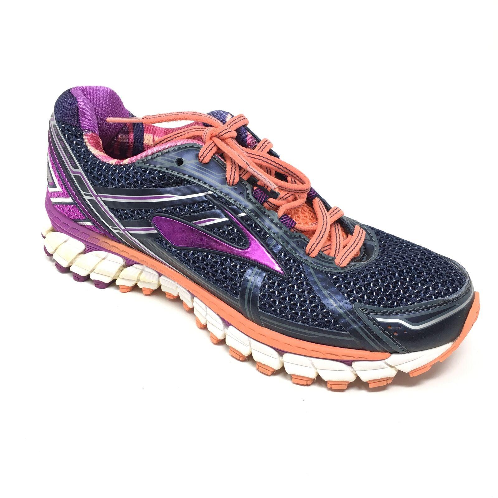 Women's Brooks GTS 15 shoes Sneakers Size 6.5B Running Indigo Purple orange X11