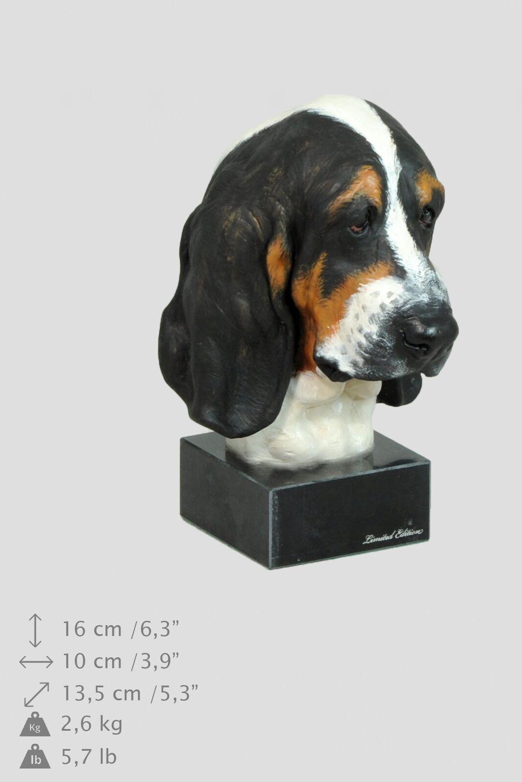 fino al 50% di sconto Basset Hound tipo 2 - statuetta statuetta statuetta di cane in bronzo dipinta, Art Dog IT  promozioni di squadra