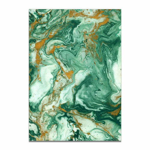 Abstract Marble Green Gold Modern Canvas Wall Art Print Living Room Prints