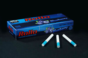 500 NEW BLUEBERRY FLAVORED ROLLO TUBE Cigarette Tobacco Rolling Roller Filter