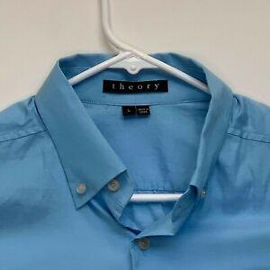 Theory-Mens-Designer-Shirt-Blue-Large