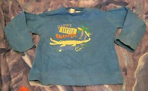 Lovely-boys-12-18-month-T-039-shirt-with-long-sleeves-in-blue-with-crocodile