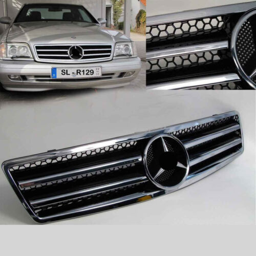 Grille for Mercedes R129 W129 Sl Sports Grill Grill in Black Chrome New