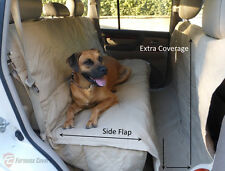 Deluxe Quilted and Padded Car Seat Cover For Dog Pet Extra Length Coverage.Khaki