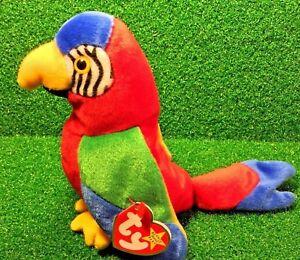 Ty Beanie Baby Jabber MWMT Bird Parrot 1997