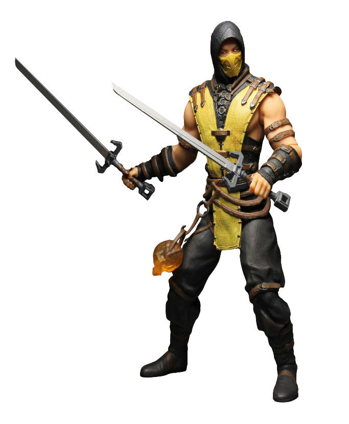 ACTION-FIGUR MORTAL KOMBAT X 1 6 SCORPION 30 CM GAME VIDEOGAME SPIEL PS3 PS4