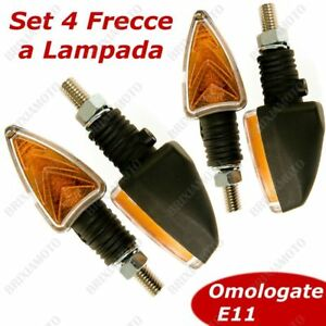 SET-4-FRECCE-MOTO-DOPPIO-VETRO-NERO-SATINATO-OMOLOGATE-UNIVERSALI-12V-21W-10W