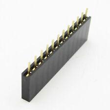 10pcs 254mm Pitch 01 1x12 12 Pin 12p Female Dupont Through Hole Header Headers