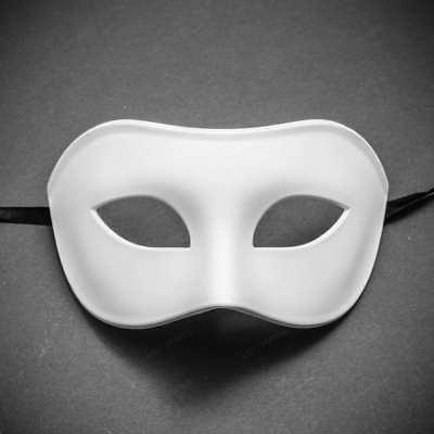 Long Zanni Plastic Masquerade Costume Mask Cosplay Dance Halloween Prom Dance