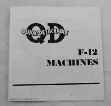 Mccormick Deering F 12 Tractor Qd Quick Detachable Implement Brochure Ih F12 F14
