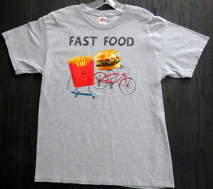 58798f934 Vintage ** FAST FOOD ** Comical Tee Burger and Fries Alstyle Apparel ...