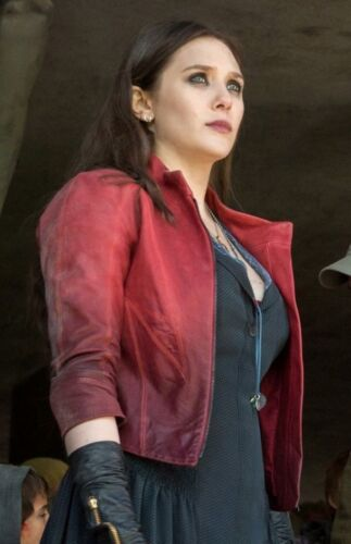 Age Jacket Women Elizabeth Maximoff Red Scarlet Ultron Wanda Of Avengers Witch Olsen C1dqTwxw
