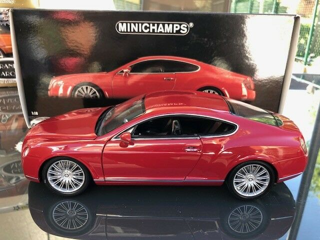 BENTLEY CONTINENTAL GT GT GT rosso MINICHAMPS 1 18 139620 2008 b769ac