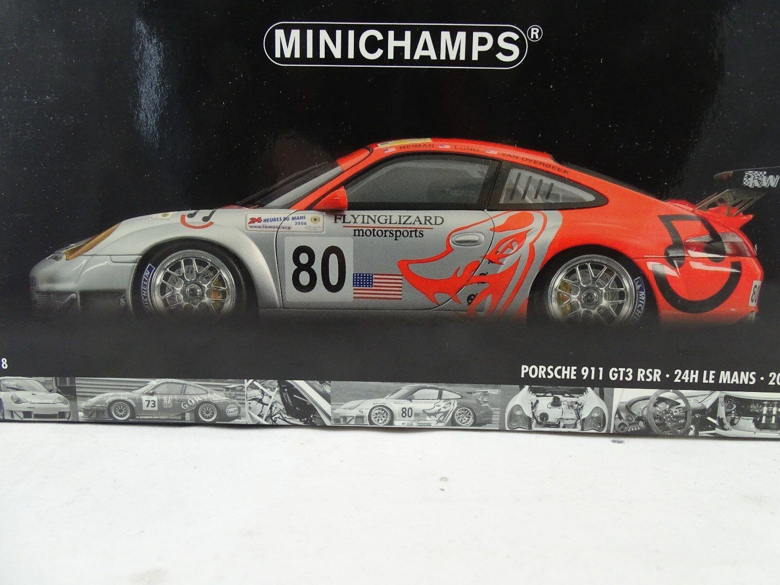 una marca di lusso 1 18 Minichamps  100066480 PORSCHE 911 911 911 gt3 RSR 24h Le uomos 2006  80 - rarità §  il più recente