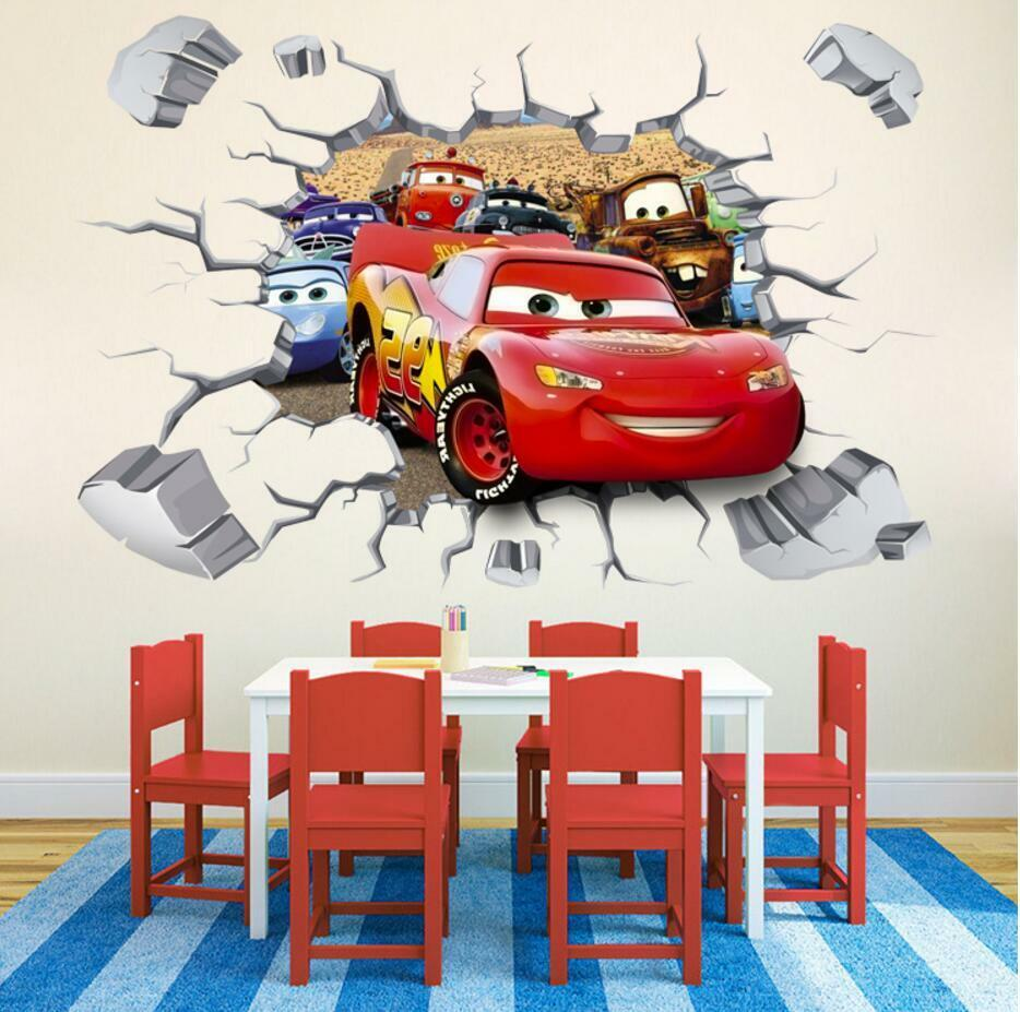 $res.content.global.inflow.inflowcomponent.cancel  sc 1 st  eBay & Disney 3d Cars McQueen Mater Removable Wall Stickers Decal Kids Home ...