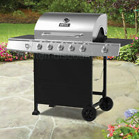 Stainless Steel 5 Burner Side Gas Propane Grill Barbecue Bbq Pit 4 3