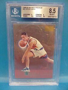 1996-97-SkyBox-Premium-91-Steve-Nash-Rookie-Beckett-8-5-NM-MT-Basketball-Card