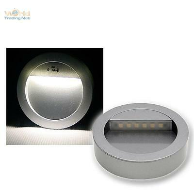 LED Lámpara empotrable Alu-silver para montar 12V, Pared/Downlights de base