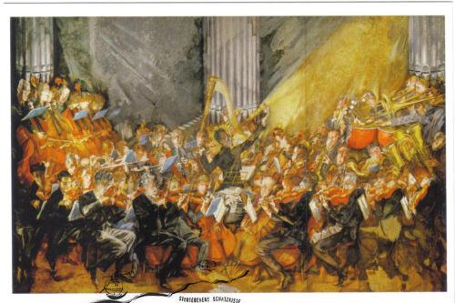 """Kunstkarte /""""Das Orchester/""""   Mahler dirigiert die Wiener Max Oppenheimer"""