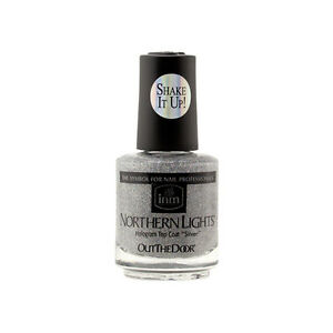 Inm Northern Lights Hologram Silver Top Coat Lacquer