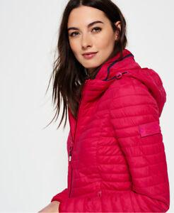 Neue Damen Superdry Vintage Fuji Jacke Pink