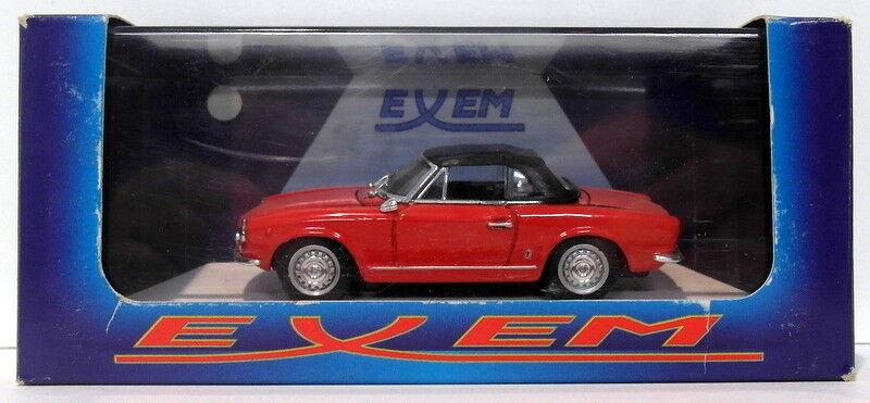 Exem Models 1 43 Scale Diecast EX21A - 1966 1966 1966 Fiat 124 Sport Spyder - Red e71907