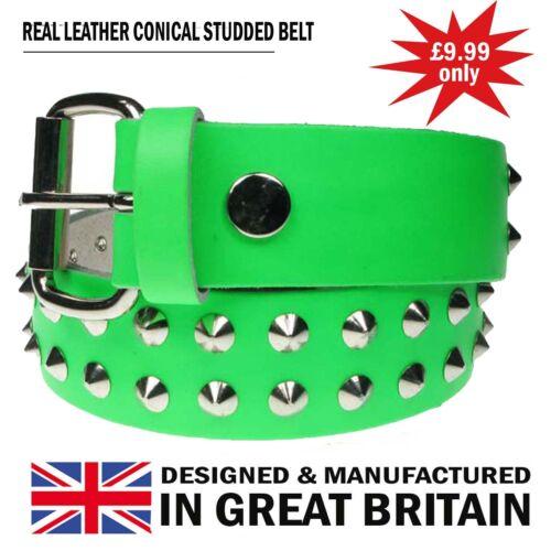 Nouveau bon marché fait main en angleterre nickle conique clouté gothique punk ceinture en cuir